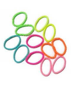 Luvley Neon Mini Hair Elastics 12-Pack