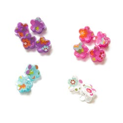 Luvley Pearl Finish Butterfly Claw Clip Assortment
