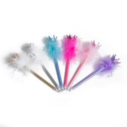 Luvley Sparkle Crown Fluffy Pen Assortment