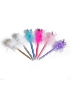 Luvley Sparkle Crown Fluffy Pen Assortment