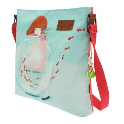Kori Kumi Little Fishes Coated Cross Body Bag