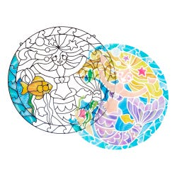 Melissa & Doug Stained Glass Mermaid Set