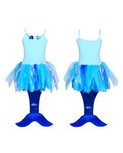Under the sea mermaid dress 5/6-blue