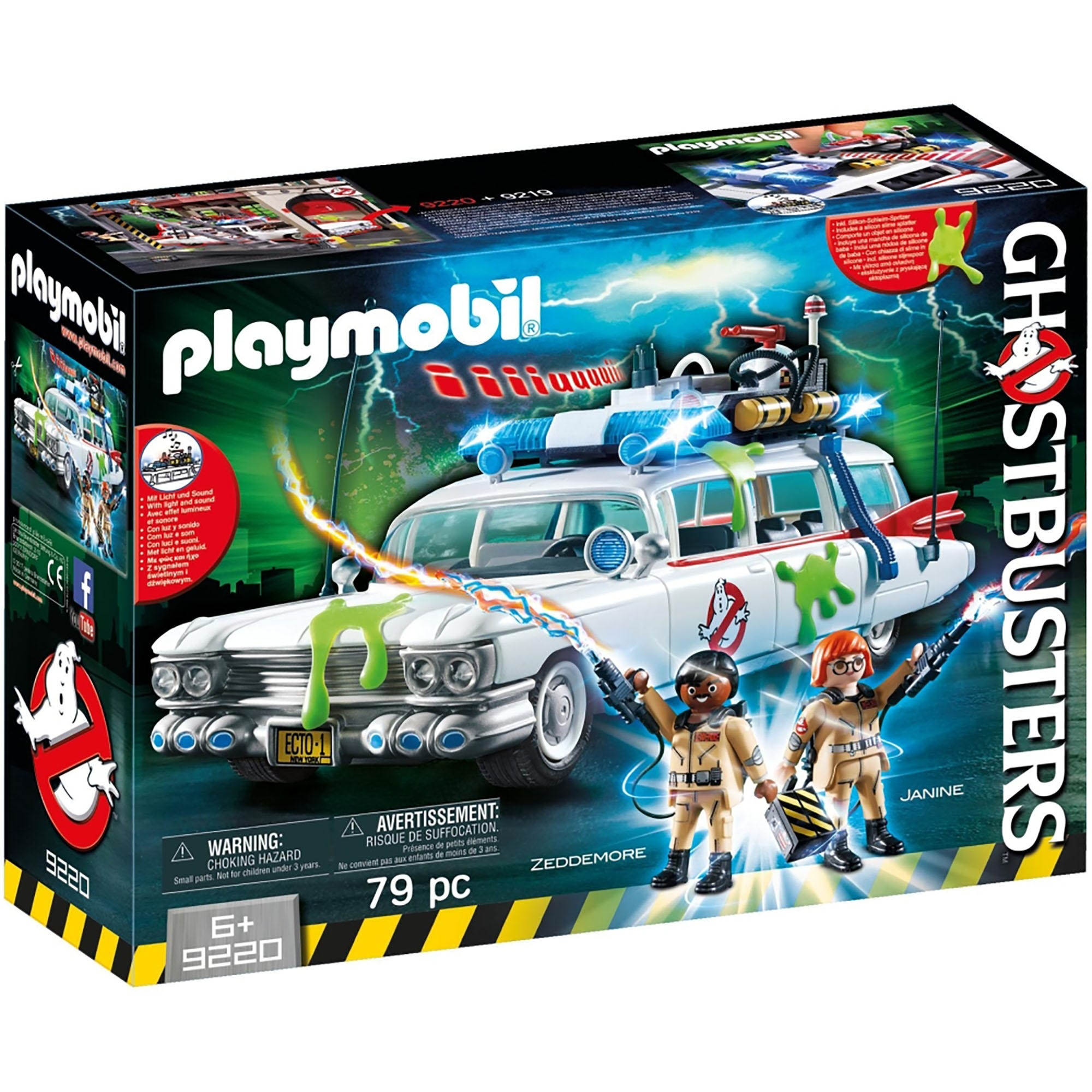Playmobil Ghostbusters Ecto 1 With Light & Sound 9220
