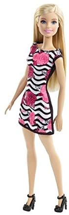 Barbie Doll With Black & White Striped Dress