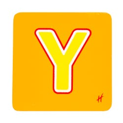 Hamleys Wooden Letter Y
