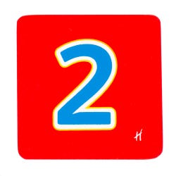 Hamleys Wooden Number 2