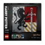 LEGO Art Harry Potter Hogwarts Crests Poster Canvas Set 31201