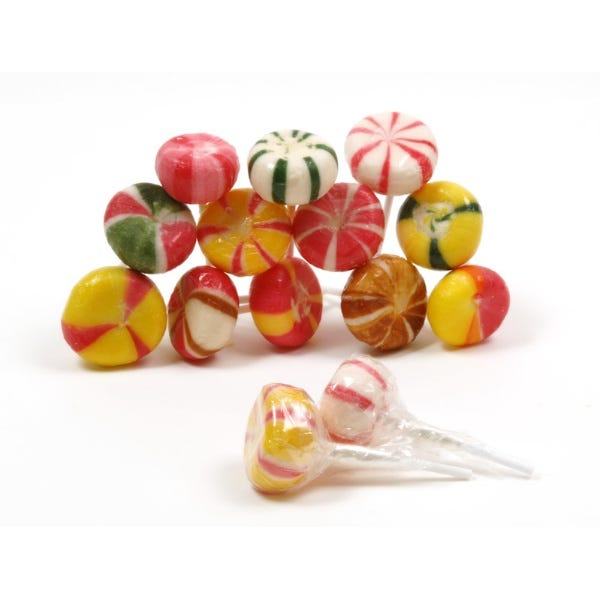Natural Handmade Round Lollipops
