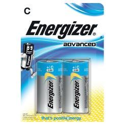 Energizer Advanced C Batteries 2 Pack