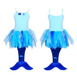 Under the sea mermaid dress 3/4-blue