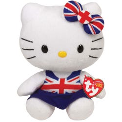 TY Hello Kitty Union Jack Beanie