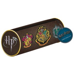 Harry Potter Crests Barrel Pencil Case