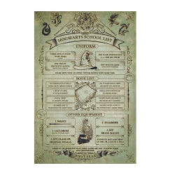Harry Potter Hogwarts School List Maxi Poster