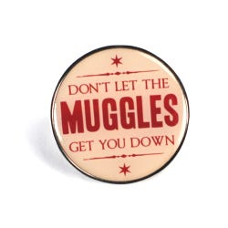 Harry Potter Muggles Enamel Badge