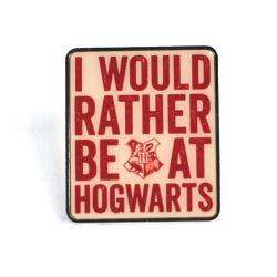 Harry Potter Hogwarts Slogan Enamel Badge