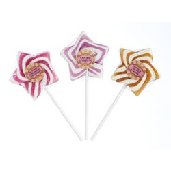 Natural Star Swirl Lollipops Strawberry Chessecake