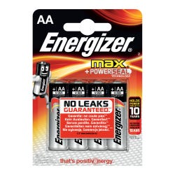 Energizer Max AA Batteries 4 Pack