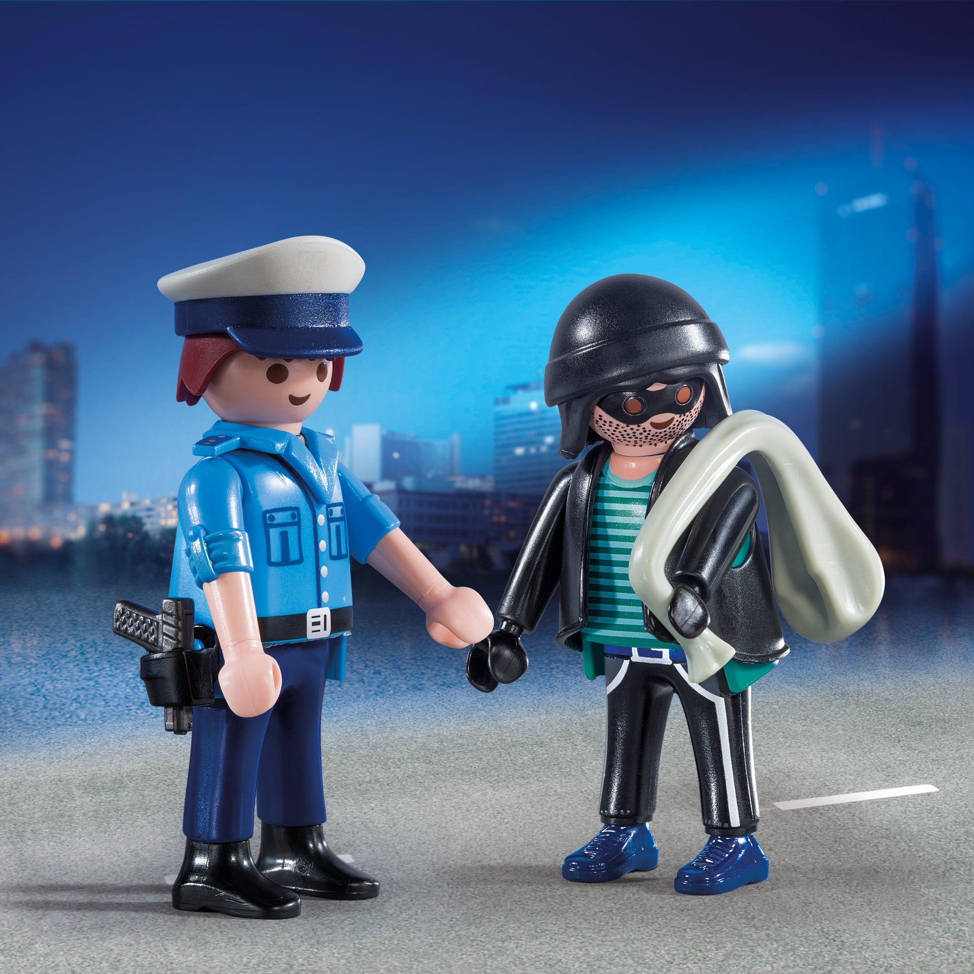 Playmobil Collectable Policeman & Burglar 9218