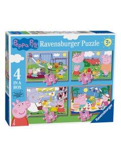 Ravensburger Peppa Pig 4 in a Box Puzzle Set