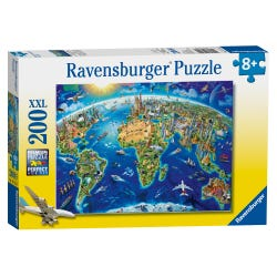 Ravensburger World Landmarks Map 200 Piece XXL Puzzle