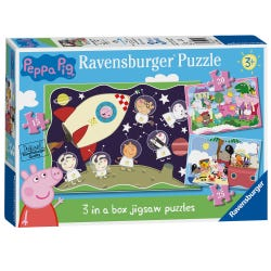 Ravensburger Peppa Pig 3 in Box Puzzles