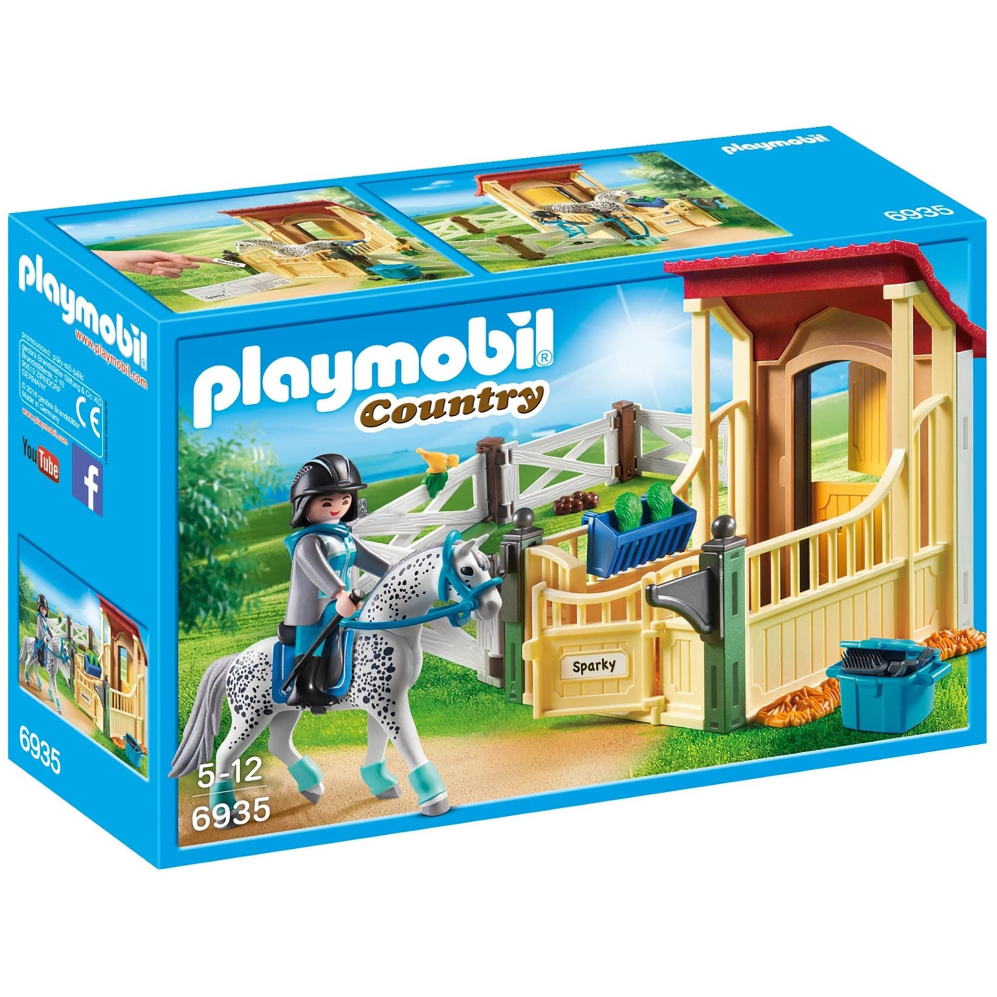 Playmobil Country Horse Stable With Appaloosa 6935