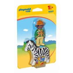 Playmobil 1.2.3 Ranger with Zebra