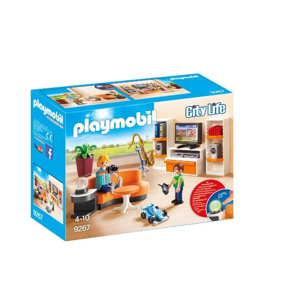 Playmobil Living Room With Working Lights