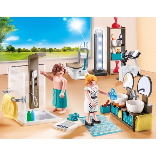 Playmobil 9268 City Life Bathroom With Working Lights