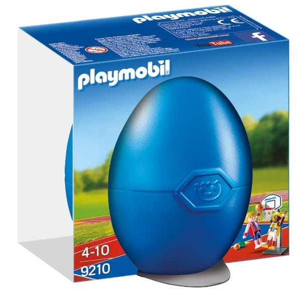 Playmobil One On One Basketball Egg