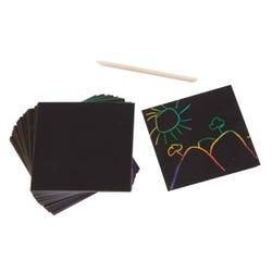 Melissa & Doug Rainbow Mini Scratch Art Note Cubes