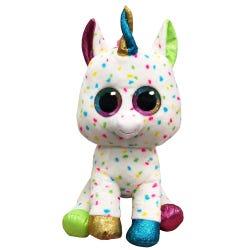 TY Harmonie Spotty Unicorn Boo Buddy Large