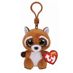 TY Rusty Racoon Boo Clip Soft Toy