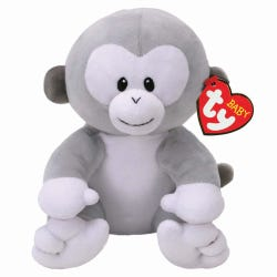 TY Baby Pookie Grey Monkey Small Soft Toy