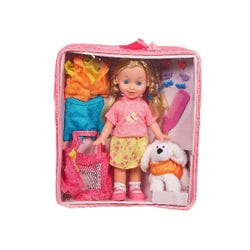 Hamleys Sophia Doll with Puppy & Carry Case