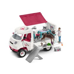 Schleich Mobile Vet With Hanoverian Foal Figure