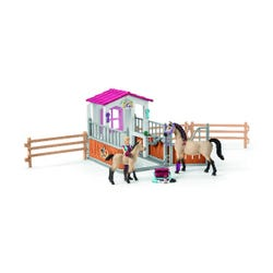 Schleich Horse Stall with Arab Horse & Groom Playset