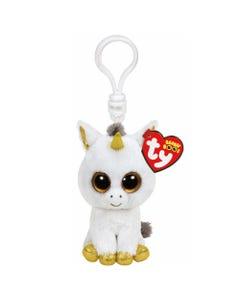 TY Pegasus Unicorn Boo Clip Soft Toy