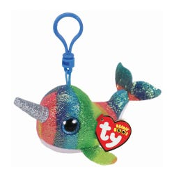 TY Nori Narwal Boo Clip Soft Toy