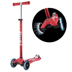 Micro Scooter Maxi Deluxe LED Red