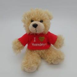 Hamleys I Love Hamleys Bear in Red T-Shirt Keyring