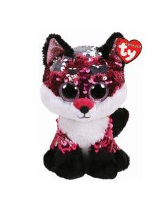TY Jewel Fox Sequin Flippable Boo Medium