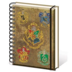 Harry Potter Hogwarts Crest and Houses A5 Premium Notebook