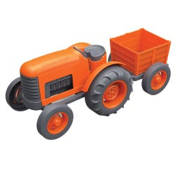 Green Toys Orange Tractor Set