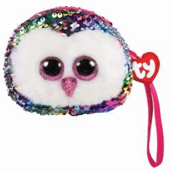 TY Owen Owl Sequin Wristlet Purse