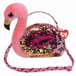 TY Gilda Flamingo Sequin Shoulder Bag