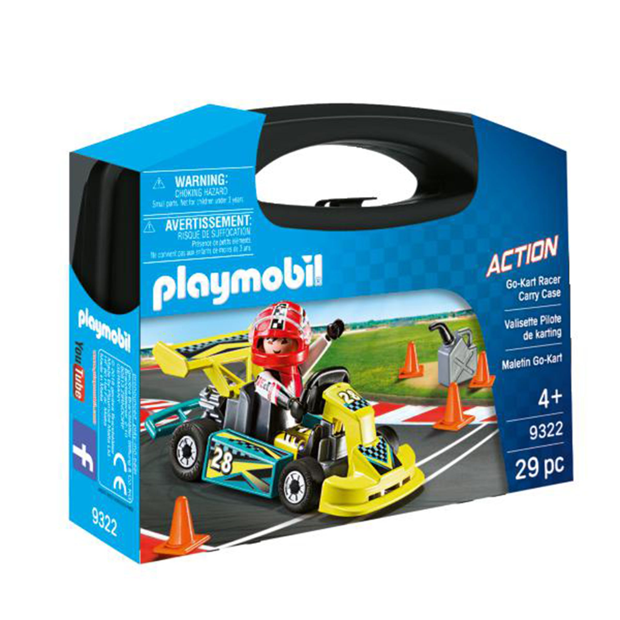 Playmobil Action Go Kart Racer Carry Case 9322