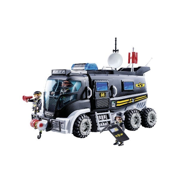 Playmobil City Action Swat Truck With Lights And Sound
