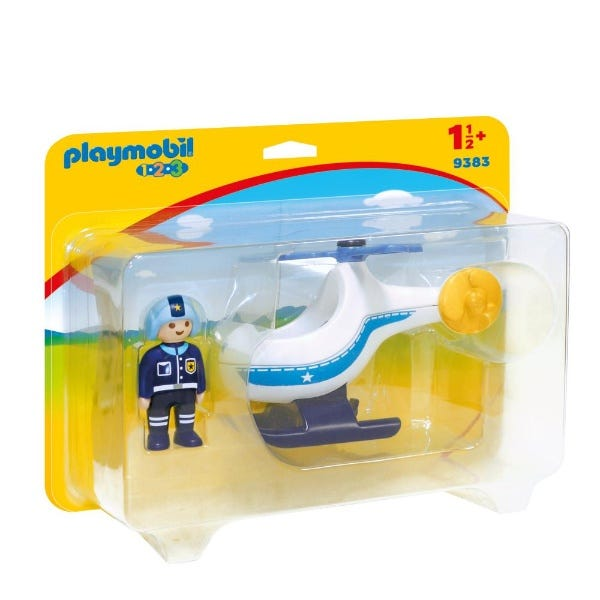Playmobil Police Helicopter With Moveable Rotor Blade
